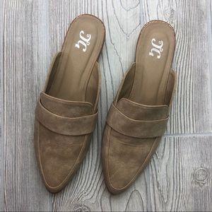 Shoes - Tan Mule Slides